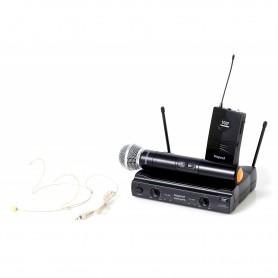 Radiomicrofono VHF Bespeco GM905HPR con Microfono a Gelato ed Archetto