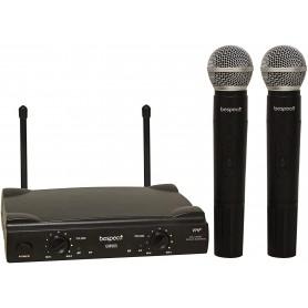 Radiomicrofono VHF Bespeco GM905R con 2 Microfoni a Gelato