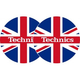 2x Slipmats - Technics UK Flag