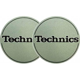 2x Slipmats - Technics Logo - Metallic Green