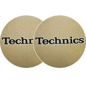 Slipmats Technics Gold Logo Black