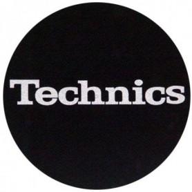 Slipmats Technics Black Logo Silver
