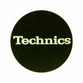 Slipmats Technics Black Logo Glow Yellow