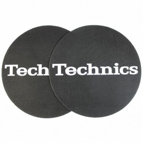 Slipmats Technics Black Logo Silver